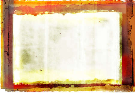 orange burnt edge book photographic border