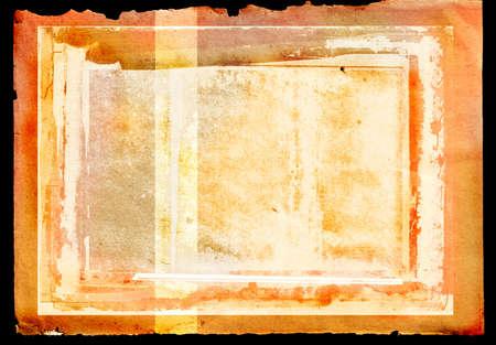 umber: orange burnt edge book spread