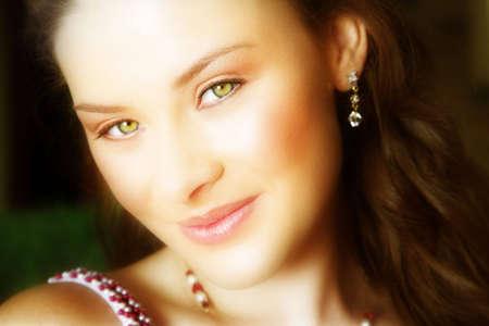 beautiful brunette close-up photo
