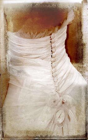 umber: detailed bridal silk dress overlaid on rich grunge texture