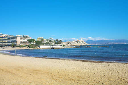 picasso: View of Antibes from the beach � Picasso Museum in the background