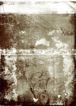 photography backdrop: grunge background with swirls, stains and damaged edges