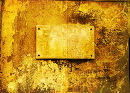 Grunge page with rich texture on painted wall with copy space Stock Photo