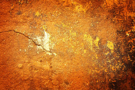Grunge wall textured background with paint spots and sand grain photo