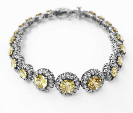 diamond necklace: Antique Turkish bracelet Stock Photo