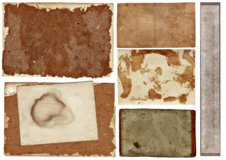 collection of old grunge papers with many textures. photo