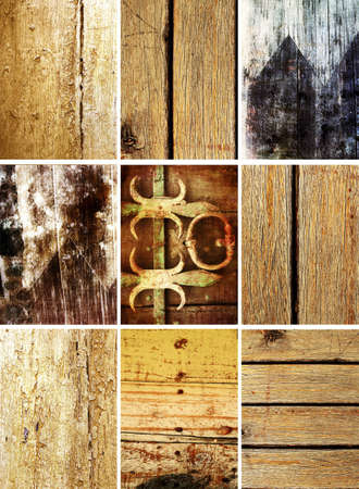 pealing: set of 9 wooden old grunge textures with stains, spots and pealing paint