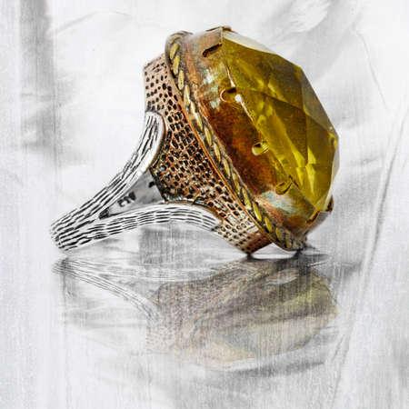 antique jewelry: Antique handmade Ottoman ring