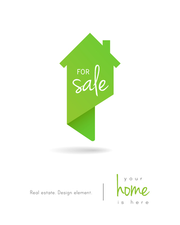 Real estate house for sale logo as map pin design
