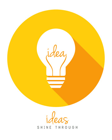Lightbulb as idea concept in flat design.