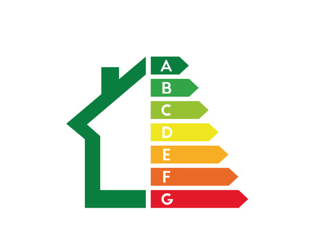 House and energy efficiency concept 向量圖像