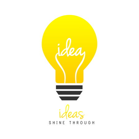 Bright light bulb as idea symbol