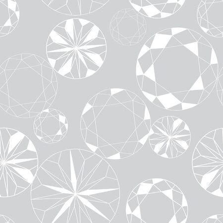 Grey and White Diamond Seamless Pattern on Grey