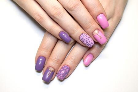 nails: nails art Stock Photo