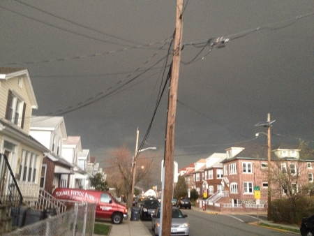 The view before the storm starts kicking in North Bergen