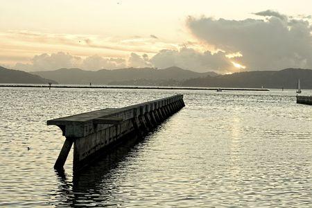 sf: Old pier in SF bay