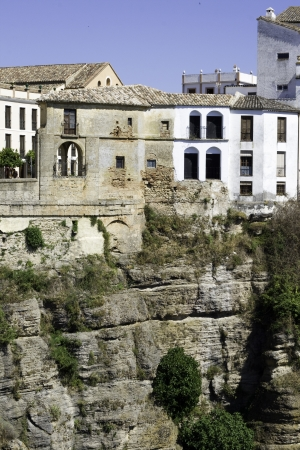 houses on cliff in Ronda, Spain photo