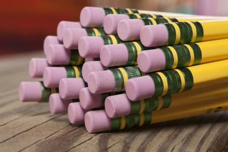 Pencil erasers macro Stock fotó
