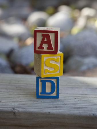 Autism Spectrum Disorder (ASD) alphabet blocks Stock fotó