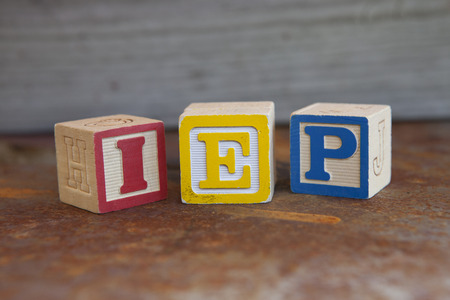 individualized: Individualized Education Plan (IEP) alphabet blocks