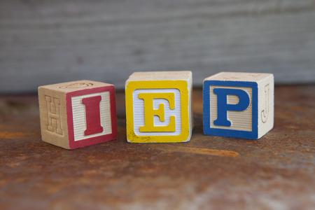 Individualized Education Plan (IEP) alphabet blocks