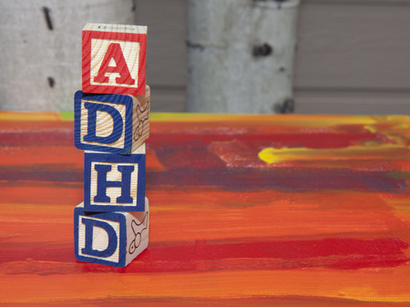 hyperactivity: Attention Deficit Hyperactivity Disorder (ADHD) alphabet blocks