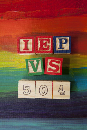 IEP vs. 504 Plan/Special Education terms Stok Fotoğraf - 33575161