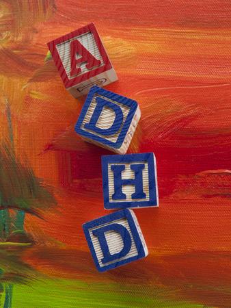hyperactivity: Attention Deficit Hyperactivity Disorder (ADHD) alphabet blocks