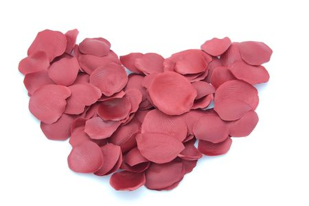 dispersed: Dispersed rose petal compose  shape