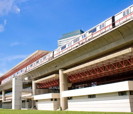 Modern Mass Rapid Transport Station in Singapore Éditoriale