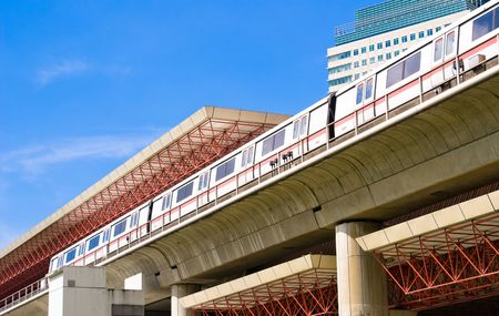 Modern Mass Rapid Transport Station in Singapore Stock Photo