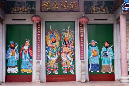 Old Chinese traditional temple in tropical country Stock Photo - 3659819