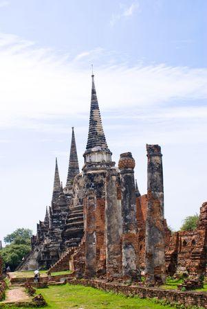 Thailand previous capital city historical landmark nearby bangkok