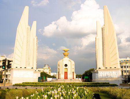 bangkok landmark architecture democracy monument in thailand Stock Photo - 3674718