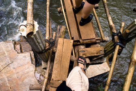 ourdoor: people adventure trekking in northern thailand forest Stock Photo