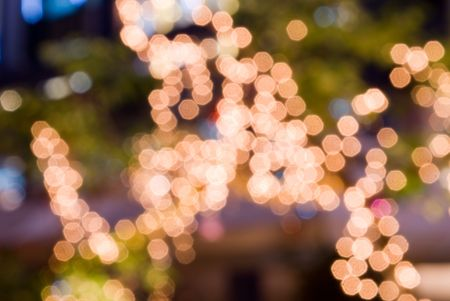 Christmas light up in tropical country street Stock Photo - 3938162