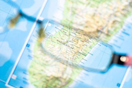 マダガスカルの地図からビジネスの送信先の選択