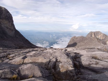 View from highest mountain in south east asia