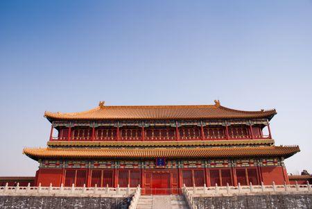 紫禁城の素晴らしい歴史的な中国建築