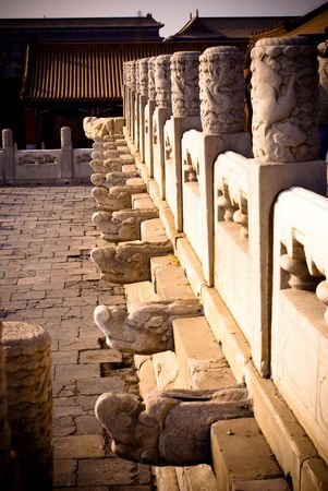 place of interest: historical place of interest in the forbidden city Stock Photo