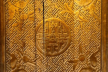 Royal decoration on the wall of the beijing forbidden city photo