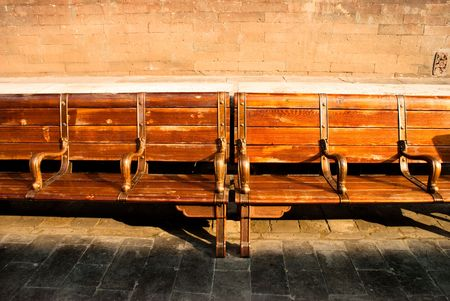 davenport: wooden antique chair in the forbidden city Stock Photo