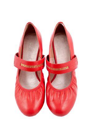 Stylish red Women shoes isolated on white background Stock Photo - 4372811