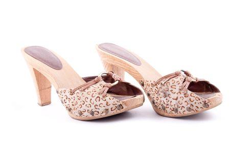 Stylish women summer foot wear isolated on white