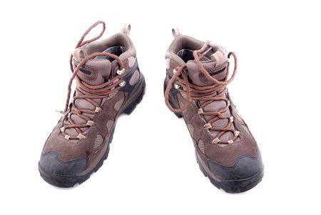 men hiking shoe isolated on white background Stock Photo - 4420149