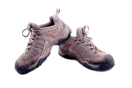 men hiking shoe isolated on white background