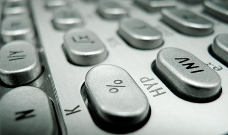 Selective focus on advanced financial calculator keyboard Stock Photo - 4765307