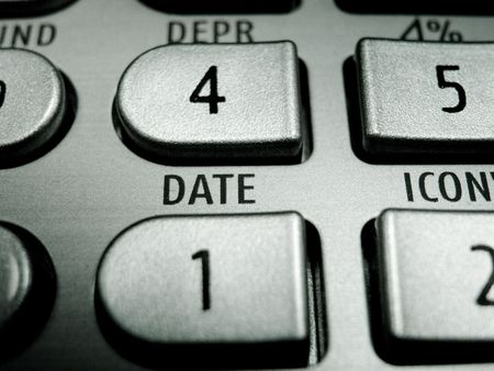 Selective focus on advanced financial calculator keyboard Stock Photo - 4765315