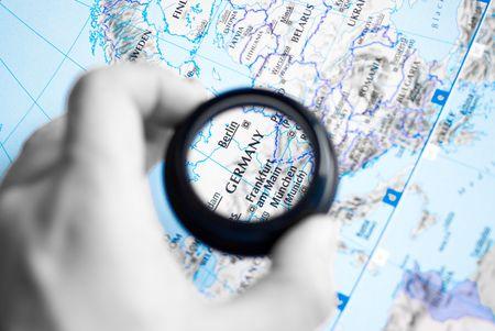ドイツのアンティーク地図選択と集中