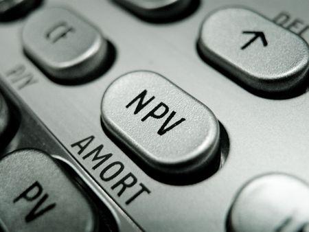 Selective focus on advanced financial calculator keyboard Stock Photo - 4793591